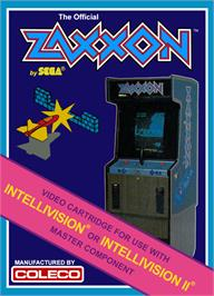 Box cover for Zaxxon on the Mattel Intellivision.