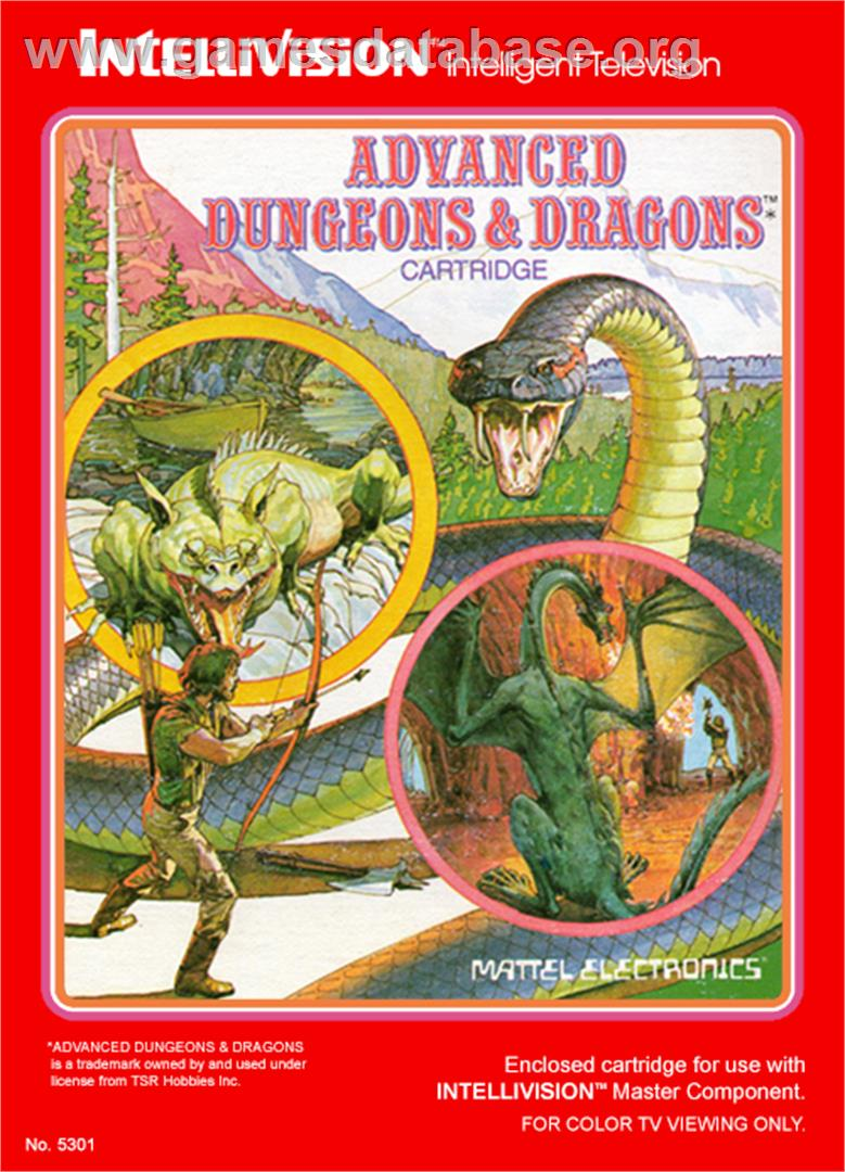 Advanced Dungeons & Dragons - Mattel Intellivision - Artwork - Box