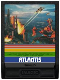 Cartridge artwork for Atlantis on the Mattel Intellivision.