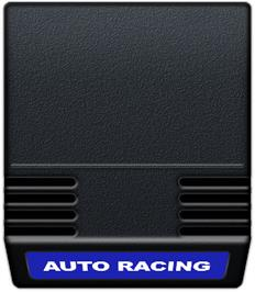 Cartridge artwork for Auto Racing on the Mattel Intellivision.