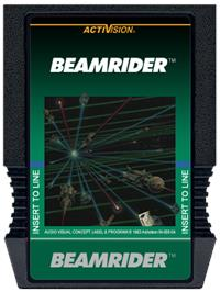 Cartridge artwork for Beamrider on the Mattel Intellivision.