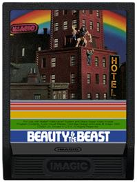 Cartridge artwork for Beauty and the Beast on the Mattel Intellivision.