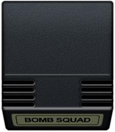 Cartridge artwork for Bomb Squad on the Mattel Intellivision.