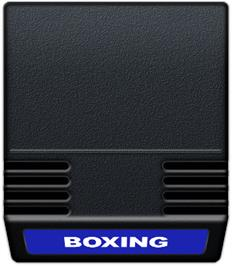 Cartridge artwork for Boxing on the Mattel Intellivision.