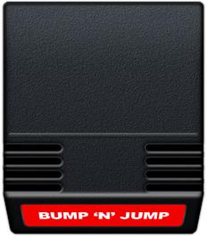 Cartridge artwork for Bump 'n' Jump on the Mattel Intellivision.