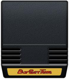 Cartridge artwork for Burger Time on the Mattel Intellivision.