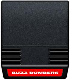 Cartridge artwork for Buzz Bombers on the Mattel Intellivision.