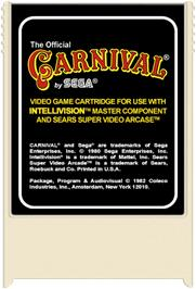 Cartridge artwork for Carnival on the Mattel Intellivision.