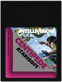 Cartridge artwork for Centipede on the Mattel Intellivision.