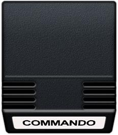 Cartridge artwork for Commando on the Mattel Intellivision.