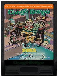 Cartridge artwork for Congo Bongo on the Mattel Intellivision.