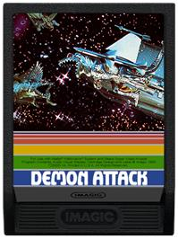 Cartridge artwork for Demon Attack on the Mattel Intellivision.