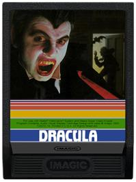 Cartridge artwork for Dracula on the Mattel Intellivision.