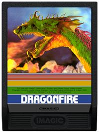 Cartridge artwork for Dragon Fire on the Mattel Intellivision.