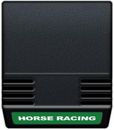 Cartridge artwork for Horse Racing on the Mattel Intellivision.