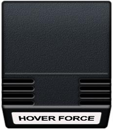 Cartridge artwork for Hover Force on the Mattel Intellivision.