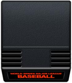 Cartridge artwork for Intellivision World Series Major League Baseball on the Mattel Intellivision.