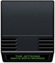 Cartridge artwork for Jetsons' Ways With Words on the Mattel Intellivision.