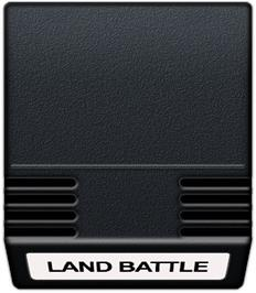 Cartridge artwork for Land Battle on the Mattel Intellivision.
