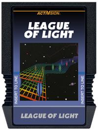 Cartridge artwork for League of Light on the Mattel Intellivision.