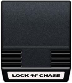 Cartridge artwork for Lock'n'Chase on the Mattel Intellivision.