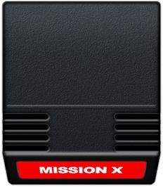 Cartridge artwork for Mission-X on the Mattel Intellivision.