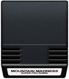 Cartridge artwork for Mountain Madness: Super Pro Skiing on the Mattel Intellivision.