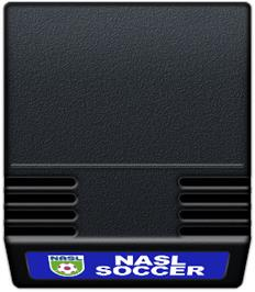 Cartridge artwork for NASL Soccer on the Mattel Intellivision.