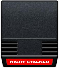 Cartridge artwork for Night Stalker on the Mattel Intellivision.