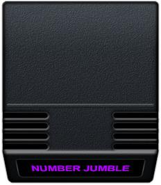 Cartridge artwork for Number Jumble on the Mattel Intellivision.