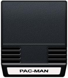 Cartridge artwork for Pac-Man on the Mattel Intellivision.