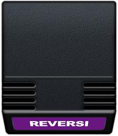 Cartridge artwork for Reversi on the Mattel Intellivision.