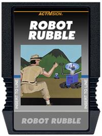Cartridge artwork for Robot Rubble on the Mattel Intellivision.