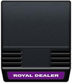 Cartridge artwork for Royal Dealer on the Mattel Intellivision.