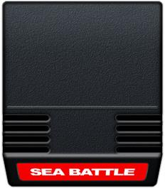 Cartridge artwork for Sea Battle on the Mattel Intellivision.