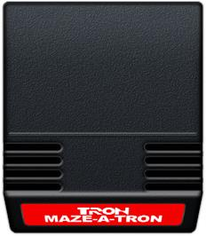 Cartridge artwork for TRON: Maze-A-Tron on the Mattel Intellivision.