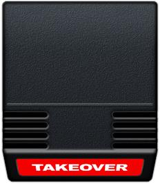 Cartridge artwork for Takeover on the Mattel Intellivision.