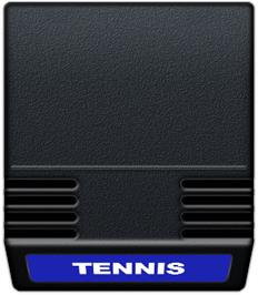 Cartridge artwork for Tennis on the Mattel Intellivision.