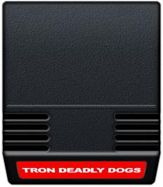 Cartridge artwork for Tron: Deadly Discs on the Mattel Intellivision.