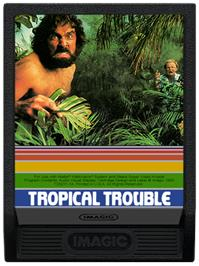 Cartridge artwork for Tropical Trouble on the Mattel Intellivision.