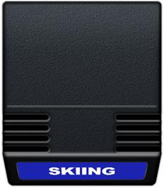 Cartridge artwork for U.S. Ski Team Skiing on the Mattel Intellivision.