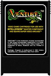 Cartridge artwork for Venture on the Mattel Intellivision.