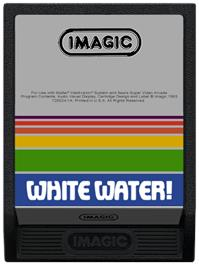 Cartridge artwork for White Water on the Mattel Intellivision.