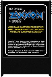 Cartridge artwork for Zaxxon on the Mattel Intellivision.