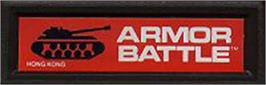 Top of cartridge artwork for Armor Battle on the Mattel Intellivision.