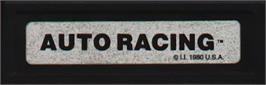 Top of cartridge artwork for Auto Racing on the Mattel Intellivision.