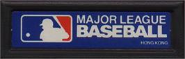 Top of cartridge artwork for Baseball on the Mattel Intellivision.