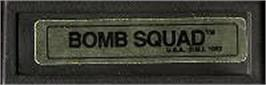 Top of cartridge artwork for Bomb Squad on the Mattel Intellivision.
