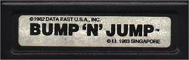 Top of cartridge artwork for Bump 'n' Jump on the Mattel Intellivision.