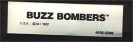 Top of cartridge artwork for Buzz Bombers on the Mattel Intellivision.